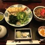 神田 味喜庵 - ランチのまかない丼と手打ちそばのセット@1,000円