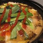 横浜天下鳥 - 豆腐と鶏のチゲ鍋