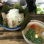葫 - つけ麺全部入り醤油(麺大盛2倍)1,350円