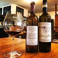 バダローネ - ワインはグラスでいつでも数種ご用意。ボトルも良いですが料理に合わせて色々楽しむのがおすすめです。