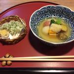62016445 - 天ぷらと炊き合わせ