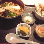 6202447 - 五目たぬきそばとミニ天丼(900円)