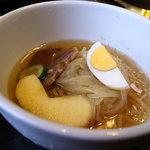 炭火焼肉 明月苑 - 冷麺(ハーフ、ランチ)
