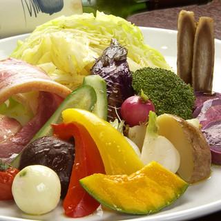 15種類以上の温野菜のご馳走サラダ