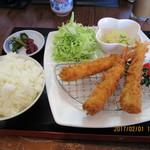 62021014 - ランチ「エビフライ定食 650円」