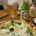 プルチーノ - 九条ねぎ&燻製モッツァレラのピザ