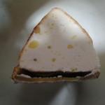 粉と卵 - スイートポテトの断面