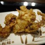丸亀製麺 - いかゲソ天 130円。