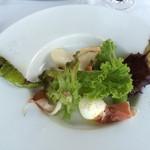 62027609 - 広川農園野菜のガーデンサラダ、ボッコンチーノとトスカーナプロシュート