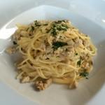 62027612 - 岩手産磐井鶏ラグーのスパゲティーニ、軽いクリームソースとレモンの香り
