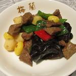 Bairan - 牛肉サイコロと野菜たっぷりのオスターソース炒め