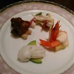 銀座アスター - [料理] 前菜4種 全景♪w