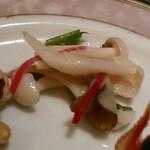 銀座アスター - [料理] エノキ・空心菜・赤パプリカ