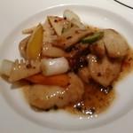 銀座アスター - [料理] 白身魚のトウチ炒め 全景♪w