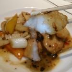 銀座アスター - [料理] 白身魚 切り口のアップ♪w