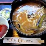 囲炉裏 - 料理写真:煮ぼうとう!