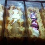 ピカブー - 右からクッキー&クリーム、カシス、渋皮マロン、抹茶