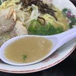 えびつラーメンセンター - スープ。
