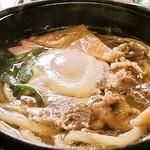 賀茂川 - 鍋焼きうどん(おすすめ)800円