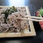 賀茂川 - ざる蕎麦(そば湯付)600円