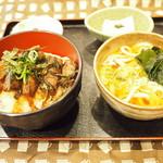 賀茂川 - スタミナ(焼肉・とろろ)丼1000円コスパ良し