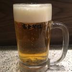 名代 富士そば - 生ビール280円