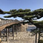 62056360 - 山側にある槍倒し松から望む錦帯橋