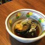 播州 炭右衛門 - お通し   茄子の煮浸し
