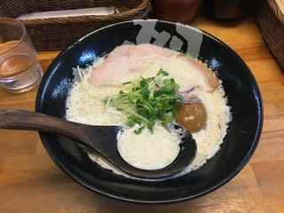 ぼっこ志 - 煮玉子鶏白湯(850円)