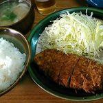 とん水 - ロースカツ定食 900円