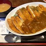 串かつ でんがな - ジャンボチキンカツカレー(830円)