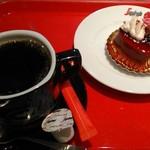 セガフレード ザネッティ - [料理] Hot珈琲 & ケーキ [トルタ・ディ・アモーレ]