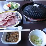 奥村茶屋 - ジンギスカン定食