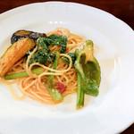 トラットリア はしまや - 菜園風トマトソースのスパゲッティ