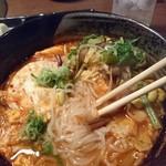 62067427 - 季節野菜辛味スープ(麵)(2017.1月)