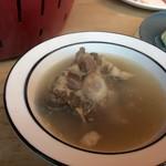 あかまる牛肉店 - テールスープ