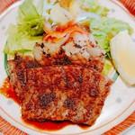 温石 - 飛騨牛ロース あみ焼きのランチ     ¥2800