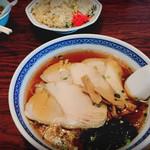 富士屋 - チャーシューメンと炒飯