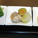 今澤 - [料理] 前菜3種 全景♪w