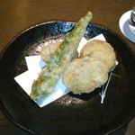 今澤 - [料理] オクラ & ミニ帆立 天ぷら