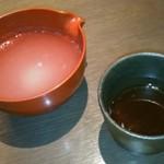 今澤 - [料理] そば湯 & 蕎麦つゆ