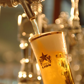 ★☆★☆生ビールを一気に注ぎ切る匠の技☆★☆★