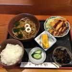 うどん忠兵衛 - 料理写真:豚肉の野菜はさみランチ(税込880円)
