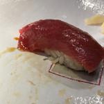 第三春美鮨 - シビマグロ 腹上二番 皮ぎし 181kg 熟成6日目 延縄漁 静岡県 下田 三宅島沖 うまい。