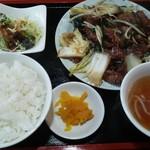 桃李 - レバニラ炒めランチ