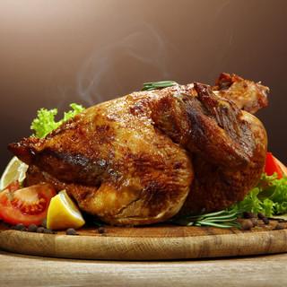 やんばる地鶏の丸焼きローストチキン
