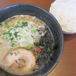 平九郎R - 料理写真:平九郎ラーメン+ライス