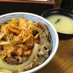 丼太郎 - キムチ牛丼(340円)