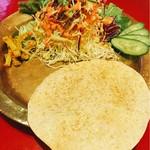 62082424 - ヒマラヤンセットのサラダ類とパパド