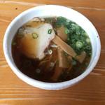 たいじ - 唐揚げ定食の ミニラーメン